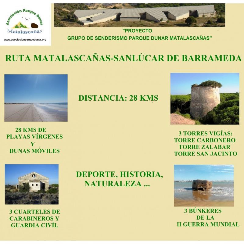 RUTA MATALASCAÑAS-SANLÚCAR DE BDA. Y SOLICITUD DE INSCRIPCIÓN ONLINE