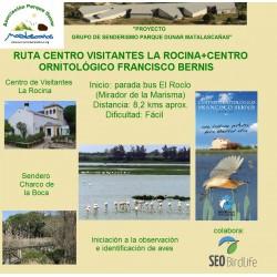 RUTA CENTRO VISITANTES LA ROCINA+CENTRO ORNITOLÓGICO FRANCISCO BERNIS