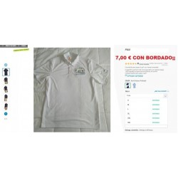 POLO BLANCO BORDADO