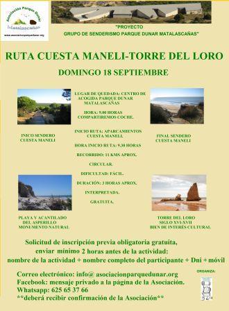 RUTA CUESTA MANELI-TORRE DEL LORO 18 SEP 2016