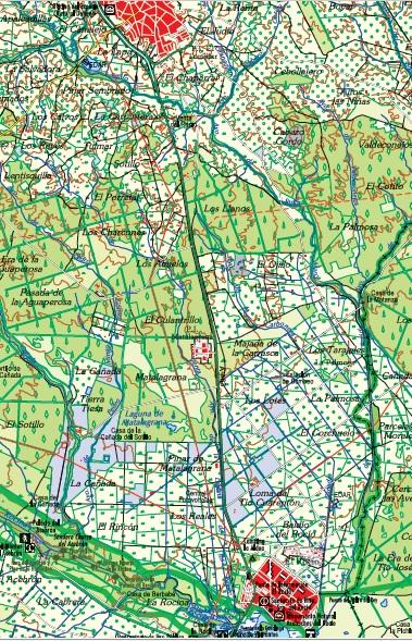localizacion ruta almonte-el rocio