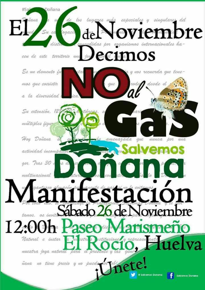 SALVEMOS DOÑANA, NO AL GAS